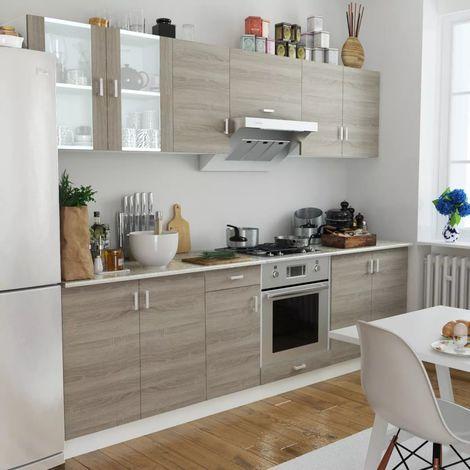 Model kitchen set hpl motif kayu