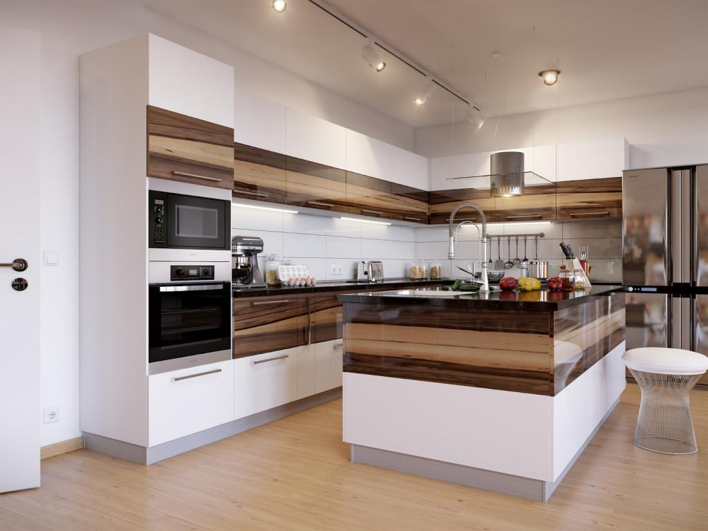 Pembuatan Kitchen Set Minimalis Motif Kayu