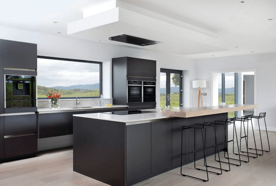 Model kitchen set hitam minimalis